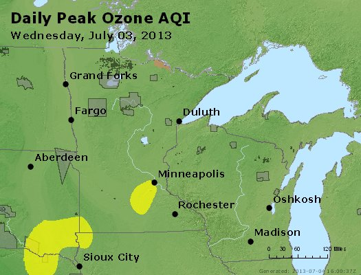 Peak Ozone (8-hour) - http://files.airnowtech.org/airnow/2013/20130703/peak_o3_mn_wi.jpg