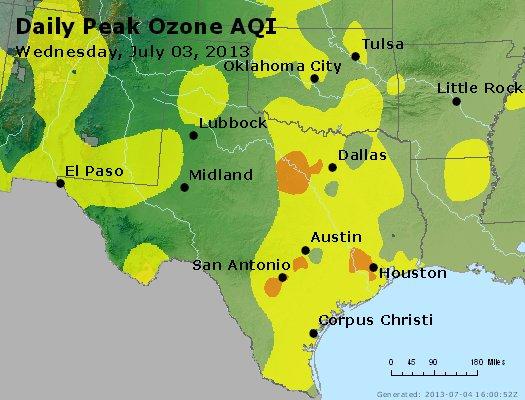 Peak Ozone (8-hour) - http://files.airnowtech.org/airnow/2013/20130703/peak_o3_tx_ok.jpg