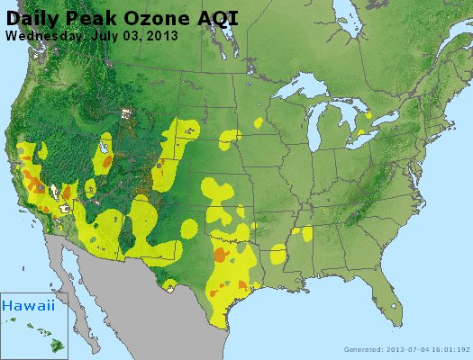 Peak Ozone (8-hour) - http://files.airnowtech.org/airnow/2013/20130703/peak_o3_usa.jpg