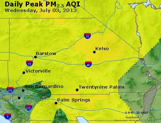 Peak Particles PM<sub>2.5</sub> (24-hour) - http://files.airnowtech.org/airnow/2013/20130703/peak_pm25_sanbernardino_ca.jpg