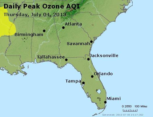 Peak Ozone (8-hour) - http://files.airnowtech.org/airnow/2013/20130704/peak_o3_al_ga_fl.jpg