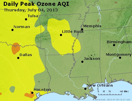 Peak Ozone (8-hour) - http://files.airnowtech.org/airnow/2013/20130704/peak_o3_ar_la_ms.jpg