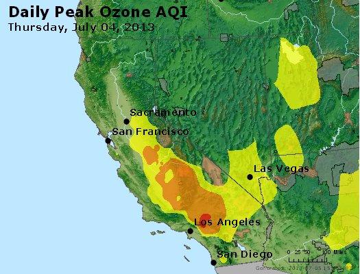 Peak Ozone (8-hour) - http://files.airnowtech.org/airnow/2013/20130704/peak_o3_ca_nv.jpg