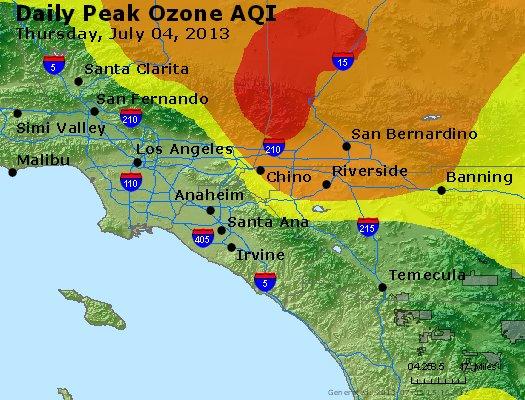 Peak Ozone (8-hour) - http://files.airnowtech.org/airnow/2013/20130704/peak_o3_losangeles_ca.jpg