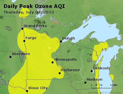 Peak Ozone (8-hour) - http://files.airnowtech.org/airnow/2013/20130704/peak_o3_mn_wi.jpg
