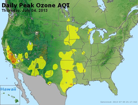 Peak Ozone (8-hour) - http://files.airnowtech.org/airnow/2013/20130704/peak_o3_usa.jpg