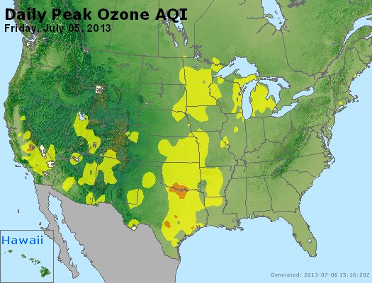 Peak Ozone (8-hour) - http://files.airnowtech.org/airnow/2013/20130705/peak_o3_usa.jpg