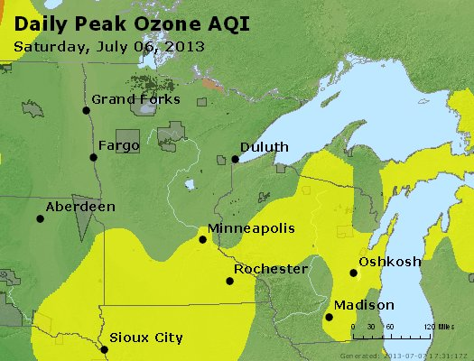 Peak Ozone (8-hour) - http://files.airnowtech.org/airnow/2013/20130706/peak_o3_mn_wi.jpg