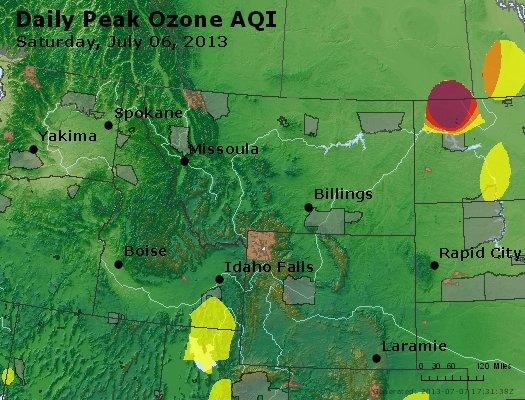 Peak Ozone (8-hour) - http://files.airnowtech.org/airnow/2013/20130706/peak_o3_mt_id_wy.jpg