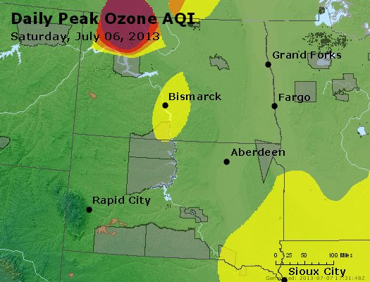 Peak Ozone (8-hour) - http://files.airnowtech.org/airnow/2013/20130706/peak_o3_nd_sd.jpg
