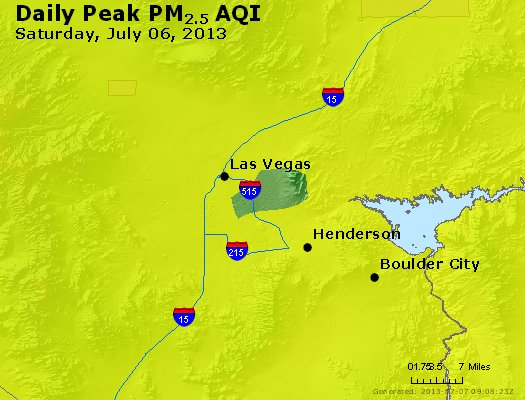 Peak Particles PM<sub>2.5</sub> (24-hour) - http://files.airnowtech.org/airnow/2013/20130706/peak_pm25_lasvegas_nv.jpg