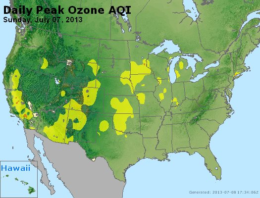 Peak Ozone (8-hour) - http://files.airnowtech.org/airnow/2013/20130707/peak_o3_usa.jpg