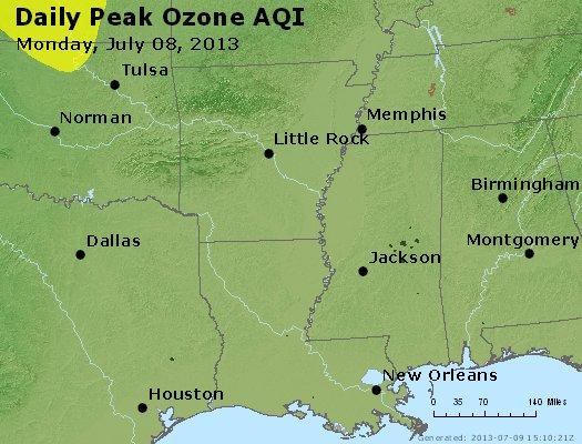 Peak Ozone (8-hour) - http://files.airnowtech.org/airnow/2013/20130708/peak_o3_ar_la_ms.jpg