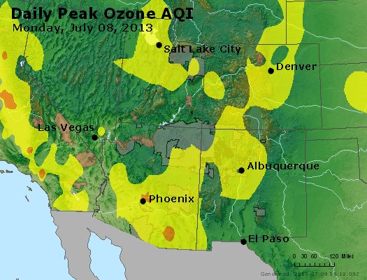 Peak Ozone (8-hour) - http://files.airnowtech.org/airnow/2013/20130708/peak_o3_co_ut_az_nm.jpg