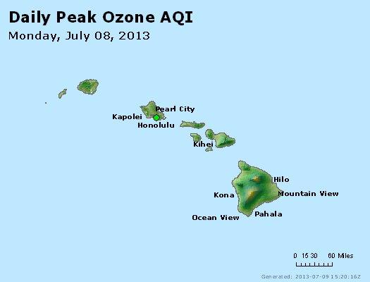 Peak Ozone (8-hour) - http://files.airnowtech.org/airnow/2013/20130708/peak_o3_hawaii.jpg