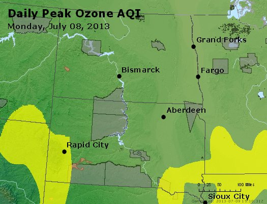 Peak Ozone (8-hour) - http://files.airnowtech.org/airnow/2013/20130708/peak_o3_nd_sd.jpg