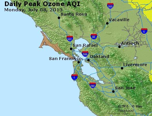 Peak Ozone (8-hour) - http://files.airnowtech.org/airnow/2013/20130708/peak_o3_sanfrancisco_ca.jpg