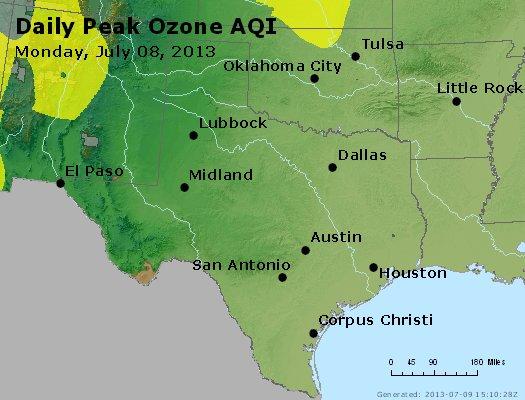 Peak Ozone (8-hour) - http://files.airnowtech.org/airnow/2013/20130708/peak_o3_tx_ok.jpg