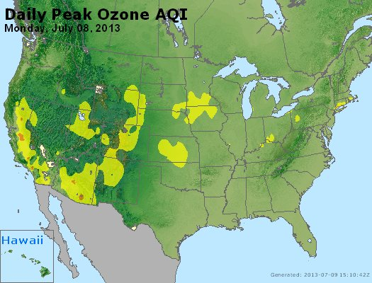 Peak Ozone (8-hour) - http://files.airnowtech.org/airnow/2013/20130708/peak_o3_usa.jpg