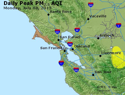 Peak Particles PM<sub>2.5</sub> (24-hour) - http://files.airnowtech.org/airnow/2013/20130708/peak_pm25_sanfrancisco_ca.jpg