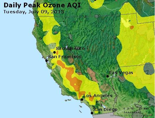 Peak Ozone (8-hour) - http://files.airnowtech.org/airnow/2013/20130709/peak_o3_ca_nv.jpg