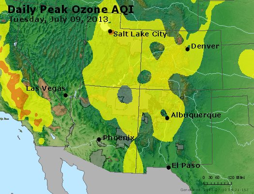 Peak Ozone (8-hour) - http://files.airnowtech.org/airnow/2013/20130709/peak_o3_co_ut_az_nm.jpg