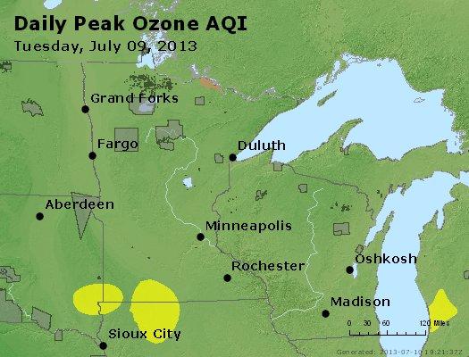 Peak Ozone (8-hour) - http://files.airnowtech.org/airnow/2013/20130709/peak_o3_mn_wi.jpg