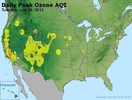 Peak Ozone (8-hour) - http://files.airnowtech.org/airnow/2013/20130709/peak_o3_usa.jpg