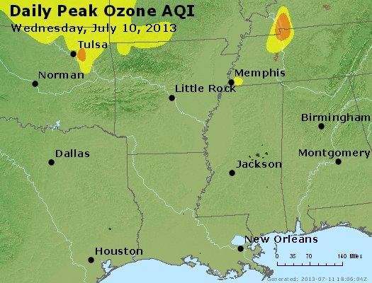 Peak Ozone (8-hour) - http://files.airnowtech.org/airnow/2013/20130710/peak_o3_ar_la_ms.jpg