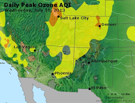 Peak Ozone (8-hour) - http://files.airnowtech.org/airnow/2013/20130710/peak_o3_co_ut_az_nm.jpg