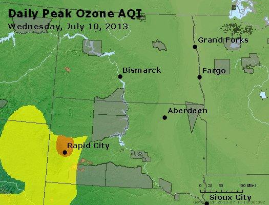 Peak Ozone (8-hour) - http://files.airnowtech.org/airnow/2013/20130710/peak_o3_nd_sd.jpg