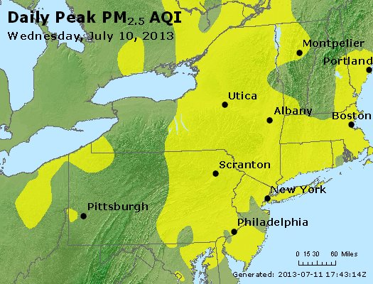 Peak Particles PM<sub>2.5</sub> (24-hour) - http://files.airnowtech.org/airnow/2013/20130710/peak_pm25_ny_pa_nj.jpg