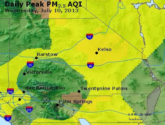 Peak Particles PM<sub>2.5</sub> (24-hour) - http://files.airnowtech.org/airnow/2013/20130710/peak_pm25_sanbernardino_ca.jpg
