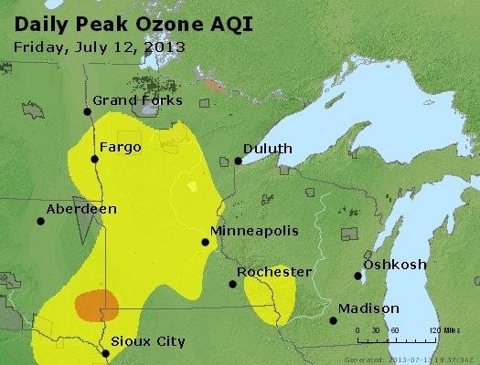 Peak Ozone (8-hour) - http://files.airnowtech.org/airnow/2013/20130712/peak_o3_mn_wi.jpg