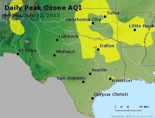 Peak Ozone (8-hour) - http://files.airnowtech.org/airnow/2013/20130712/peak_o3_tx_ok.jpg