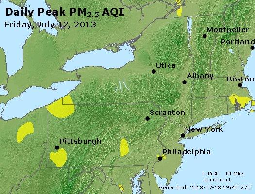 Peak Particles PM<sub>2.5</sub> (24-hour) - http://files.airnowtech.org/airnow/2013/20130712/peak_pm25_ny_pa_nj.jpg