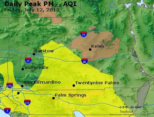 Peak Particles PM<sub>2.5</sub> (24-hour) - http://files.airnowtech.org/airnow/2013/20130712/peak_pm25_sanbernardino_ca.jpg