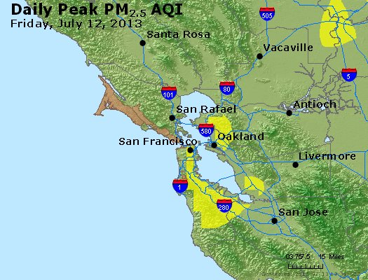 Peak Particles PM<sub>2.5</sub> (24-hour) - http://files.airnowtech.org/airnow/2013/20130712/peak_pm25_sanfrancisco_ca.jpg