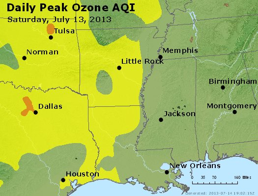 Peak Ozone (8-hour) - http://files.airnowtech.org/airnow/2013/20130713/peak_o3_ar_la_ms.jpg