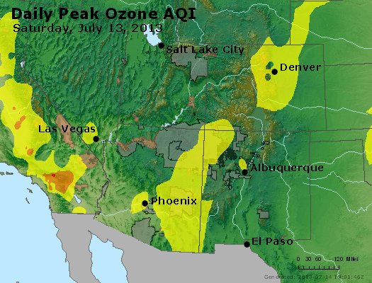 Peak Ozone (8-hour) - http://files.airnowtech.org/airnow/2013/20130713/peak_o3_co_ut_az_nm.jpg