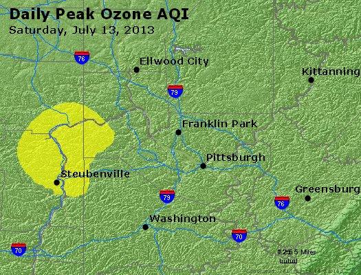 Peak Ozone (8-hour) - http://files.airnowtech.org/airnow/2013/20130713/peak_o3_pittsburgh_pa.jpg