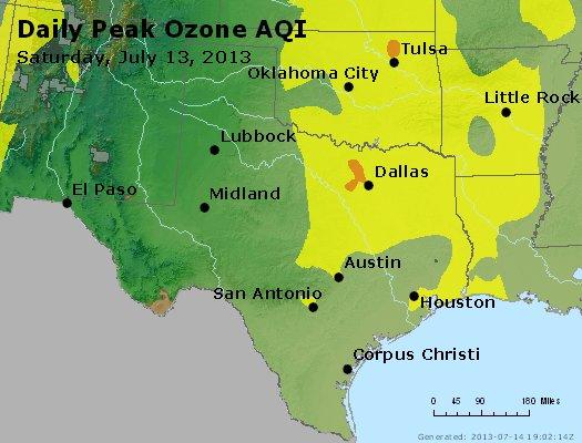 Peak Ozone (8-hour) - http://files.airnowtech.org/airnow/2013/20130713/peak_o3_tx_ok.jpg