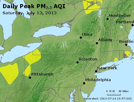 Peak Particles PM<sub>2.5</sub> (24-hour) - http://files.airnowtech.org/airnow/2013/20130713/peak_pm25_ny_pa_nj.jpg