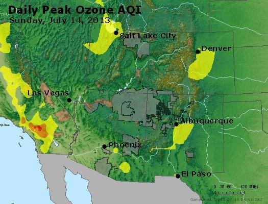 Peak Ozone (8-hour) - http://files.airnowtech.org/airnow/2013/20130714/peak_o3_co_ut_az_nm.jpg