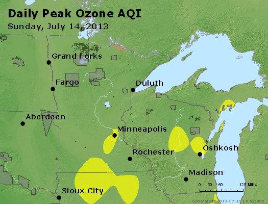 Peak Ozone (8-hour) - http://files.airnowtech.org/airnow/2013/20130714/peak_o3_mn_wi.jpg