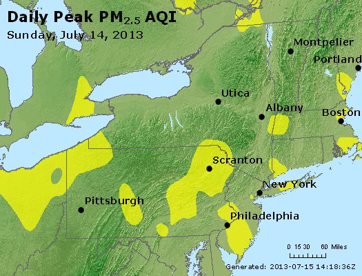 Peak Particles PM<sub>2.5</sub> (24-hour) - http://files.airnowtech.org/airnow/2013/20130714/peak_pm25_ny_pa_nj.jpg