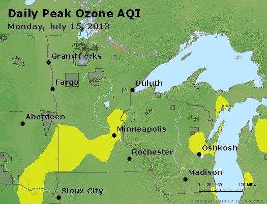 Peak Ozone (8-hour) - http://files.airnowtech.org/airnow/2013/20130715/peak_o3_mn_wi.jpg