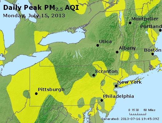 Peak Particles PM<sub>2.5</sub> (24-hour) - http://files.airnowtech.org/airnow/2013/20130715/peak_pm25_ny_pa_nj.jpg