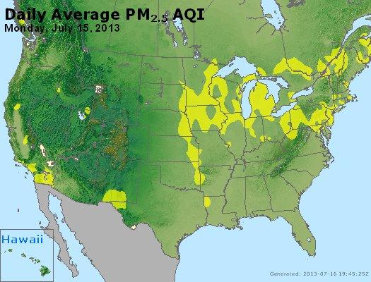 Peak Particles PM<sub>2.5</sub> (24-hour) - http://files.airnowtech.org/airnow/2013/20130715/peak_pm25_usa.jpg