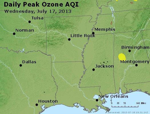 Peak Ozone (8-hour) - http://files.airnowtech.org/airnow/2013/20130717/peak_o3_ar_la_ms.jpg